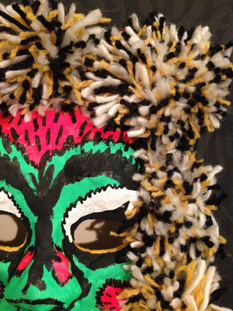 Halloween mask inspired by vintage Ben Cooper masks.