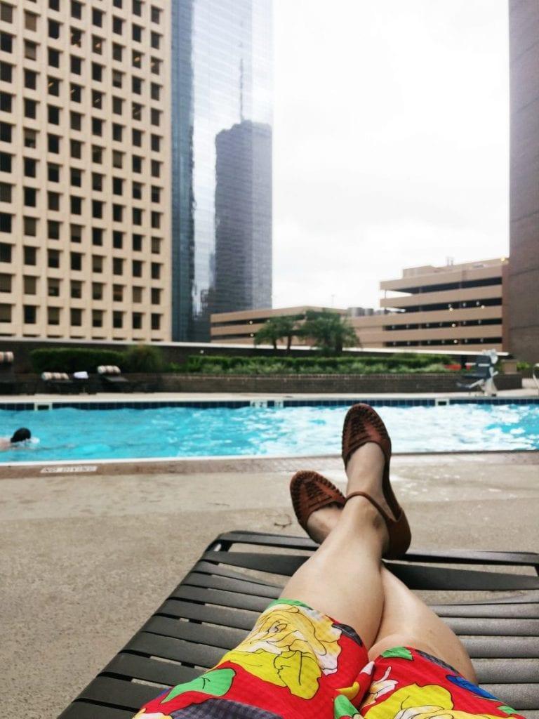 Rooftop pool in Houston.