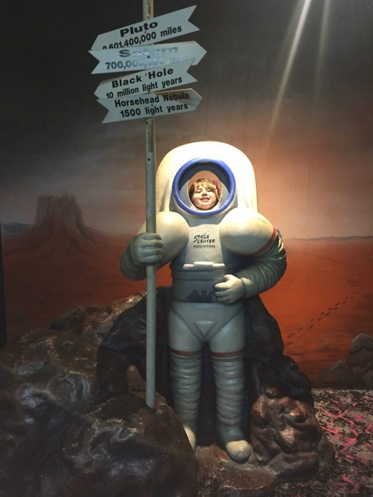 Taking kids to NASA Houston.