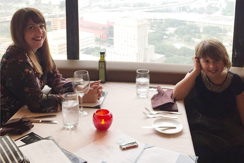Mommy and Me dinner at the Spindletop Restaurant.