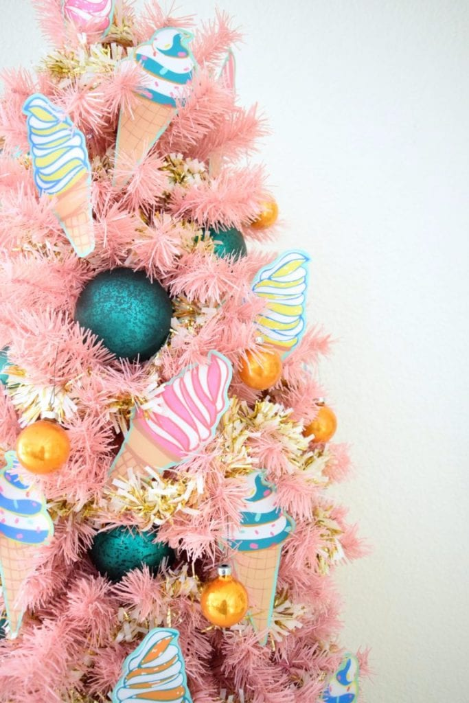 How to decorate a pink ice cream tree by Jennifer Perkins
