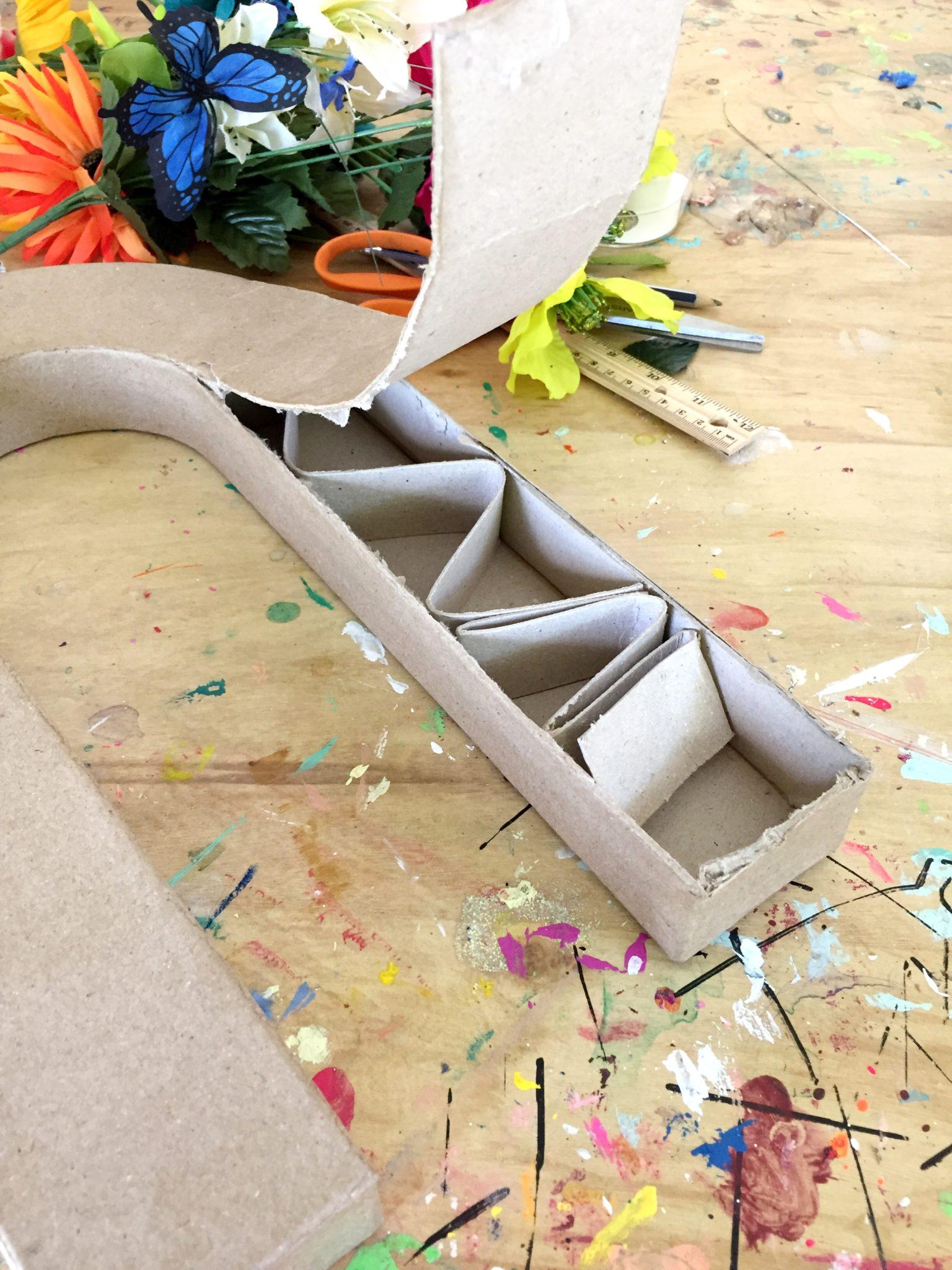 DIY Rainbow vase by Jennifer Perkins