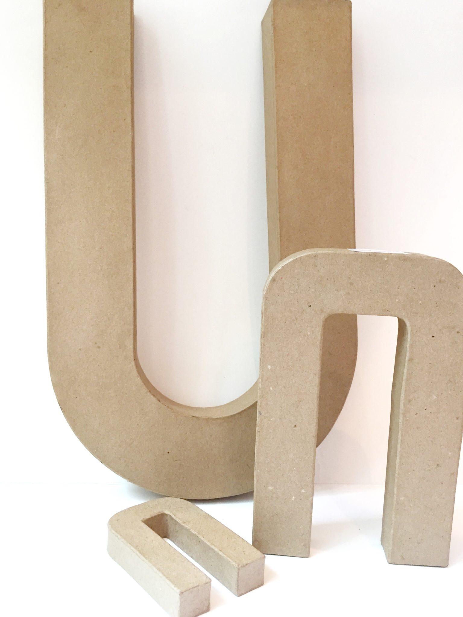 Cardboard letters for crafts.