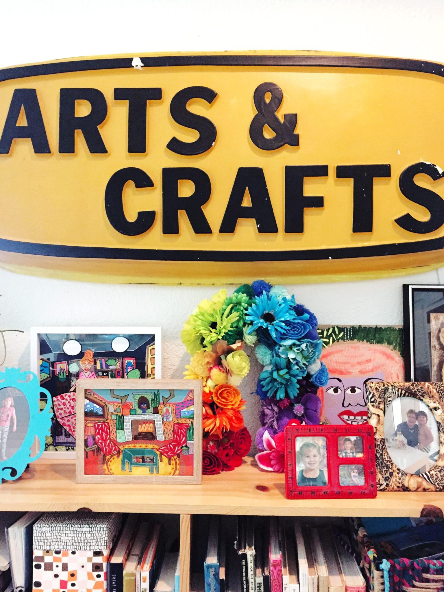 Colorful and kitschy rainbow DIY by Jennifer Perkins