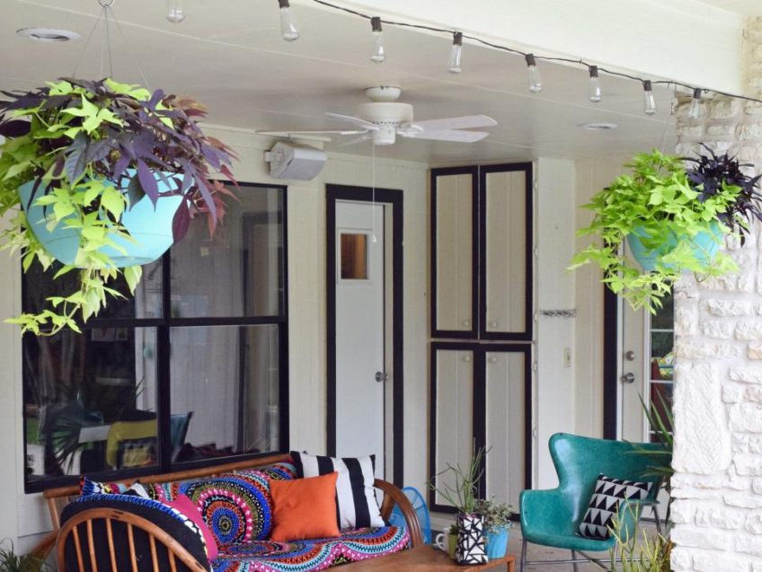 Backyard Boho with Patio Lights by Jennifer Perkins