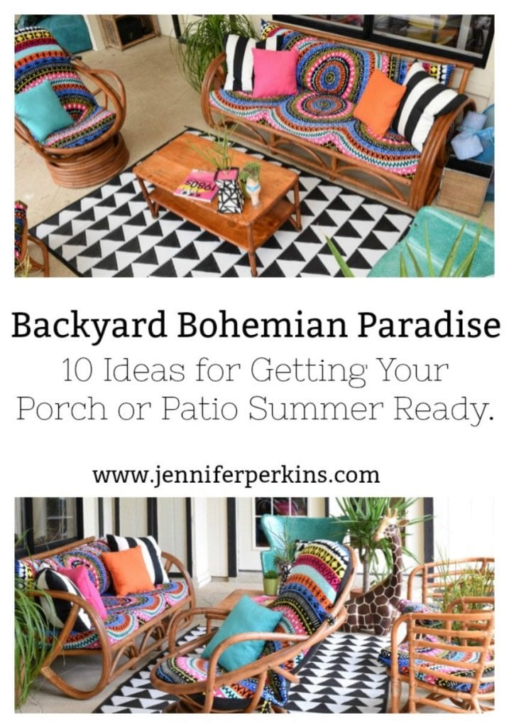 10 Ideas for getting your porch or patio summer ready by Jennifer Perkins