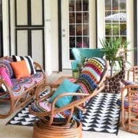How to create an boho patio by Jennifer Perkins