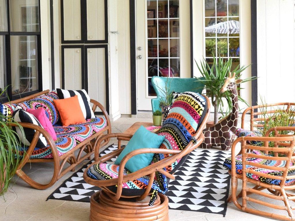 How to create an boho patio by Jennifer Perkins