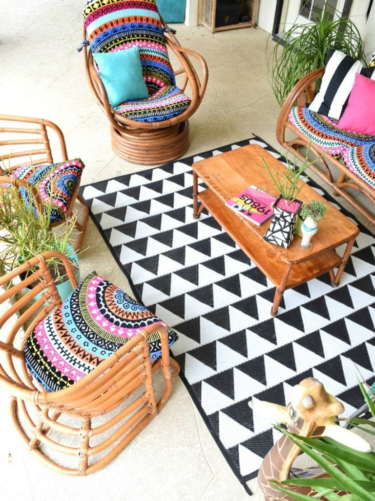 Boho Patio Makeover by Jennifer Perkins