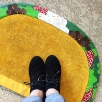 DIY Taco Doormat by Jennifer Perkins