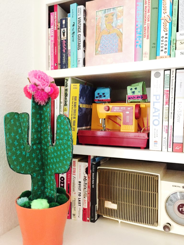 How to make a cardboard cactus by Jennifer Perkins