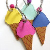 DIY Clay Ice cream Cone Ornaments by Jennifer Perkins