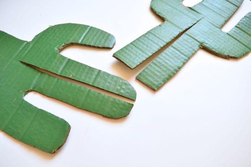 Cardboard Cactus pieces by Jennifer Perkins