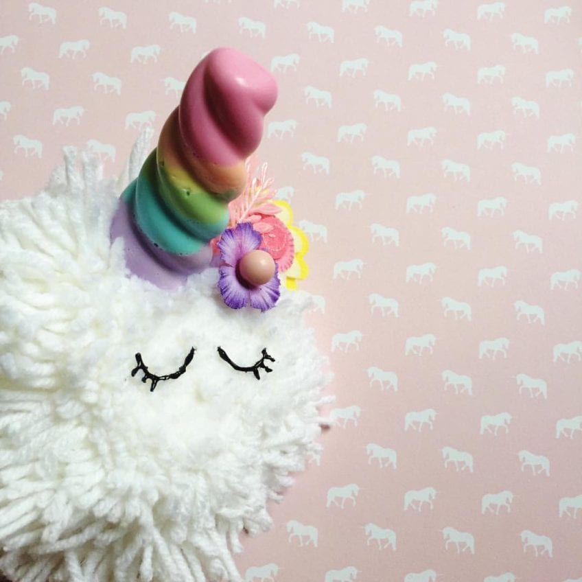 How to make unicorn horn soap by Jennifer Perkins