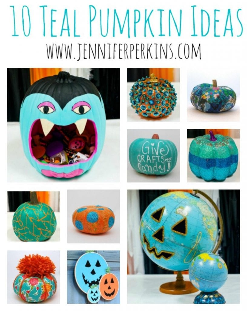 DIY Ideas to Make Your Own Teal Pumpkin for Halloween and Food Allergy Awareness by Jennifer Perkins