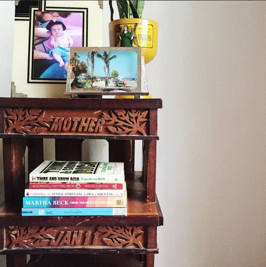 Coffee table styling by Jennifer Perkins