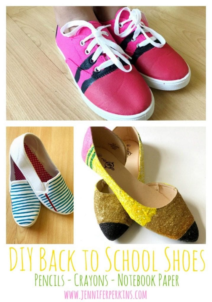 DIY Back to School Shoes by Jennifer Perkins