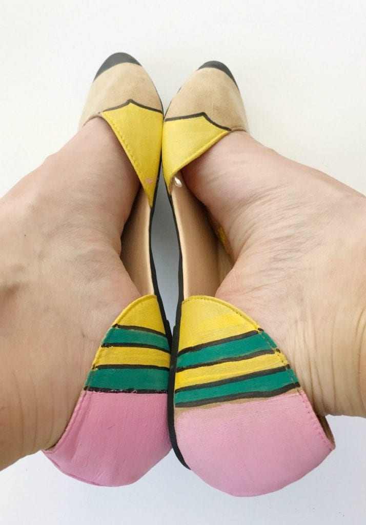 DIY pencil flats - craft the perfect pair of back to school shoes with Jennifer Perkins