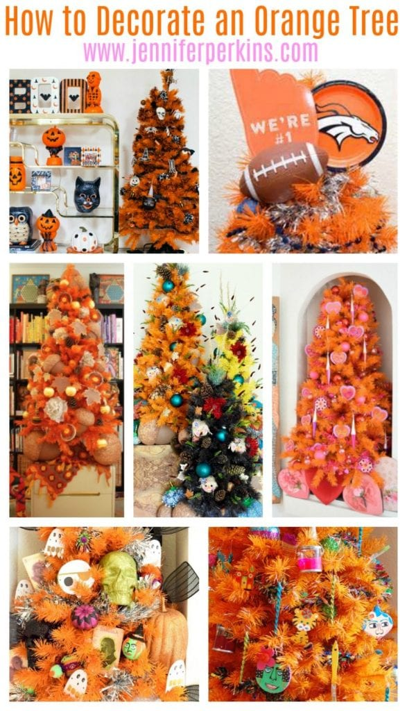 How To Decorate An Orange Christmas Tree For 5 Different Holidays