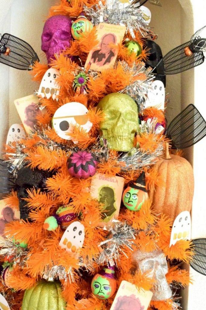 Orange tree for Halloween by Jennifer Perkins