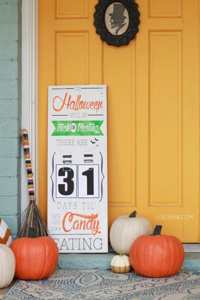 Halloween countdown board by Lolly Jane