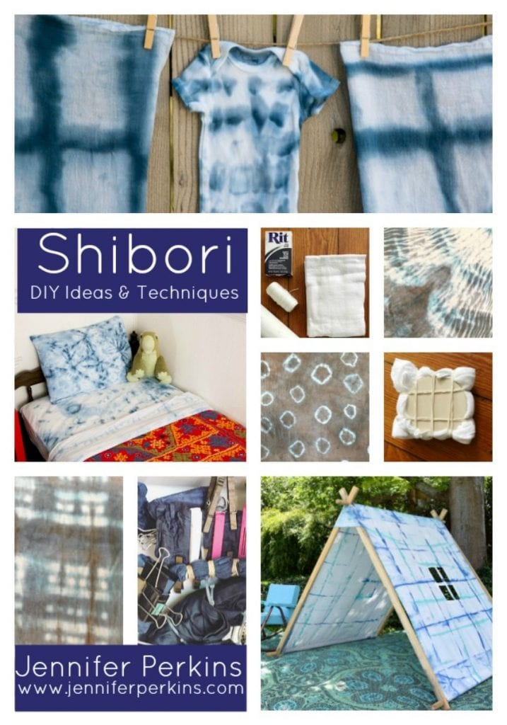 Fun DIY ideas using shibori by Jennifer Perkins