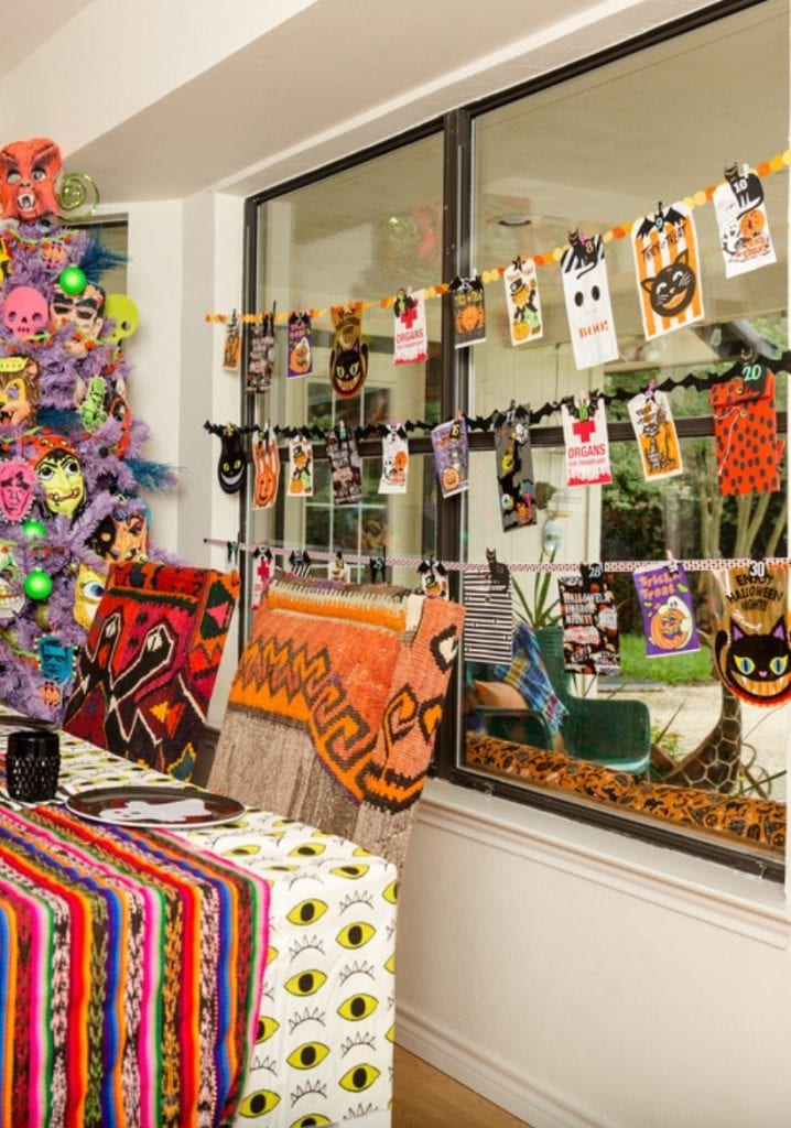 Collection of Halloween treat bags used as an advent or Halloween countdown by Jennifer Perkins