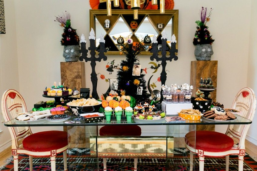 Halloween party food table by Jennifer Perkins