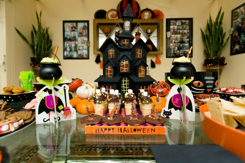Haunted house Halloween treat table by Jennifer Perkins