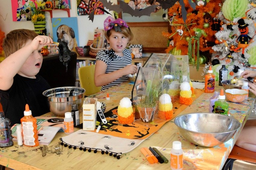 Halloween slime party for kids.