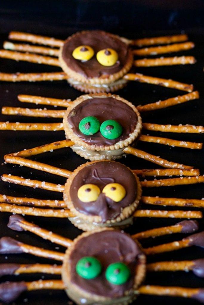Peanut free Sunbutter spider cookies for Halloween by Jennifer Perkins