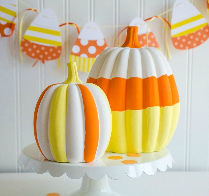 DIY Candy Corn Pumpkins by Love the Day
