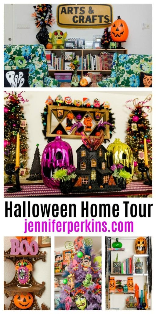 Come Over For A Haunted Halloween Home Tour Jennifer Perkins #halloweenhometour #halloween #hometour