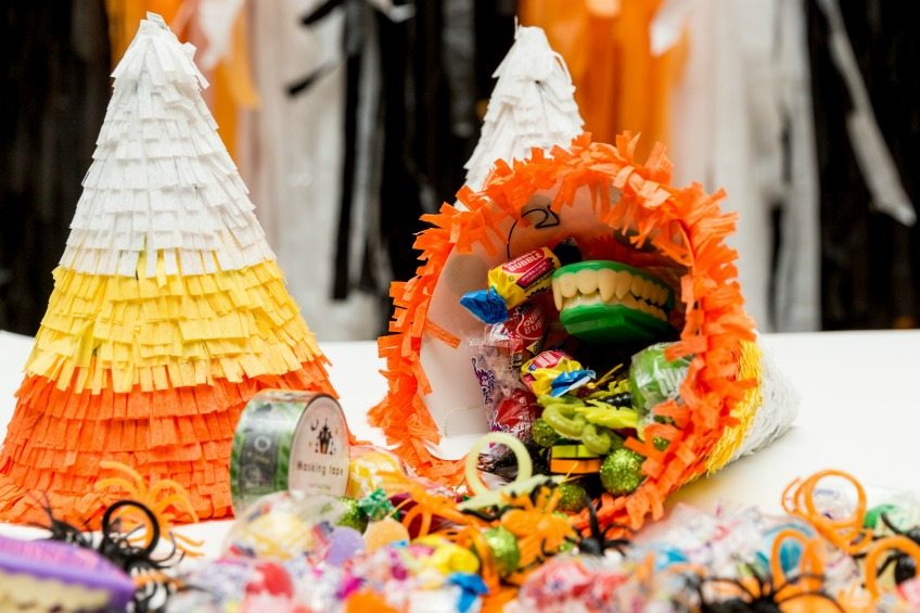How to make a DIY candy corn piñata by Jennifer Perkins