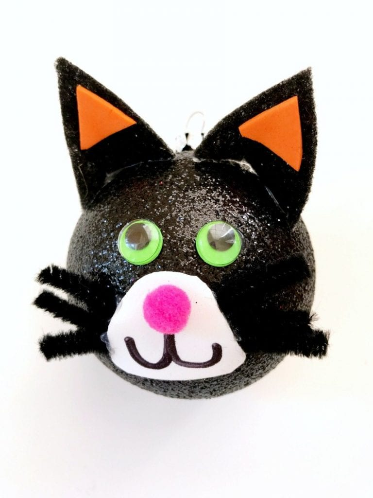 Adorable DIY Black Cat Halloween Tree Ornament by Jennifer Perkins