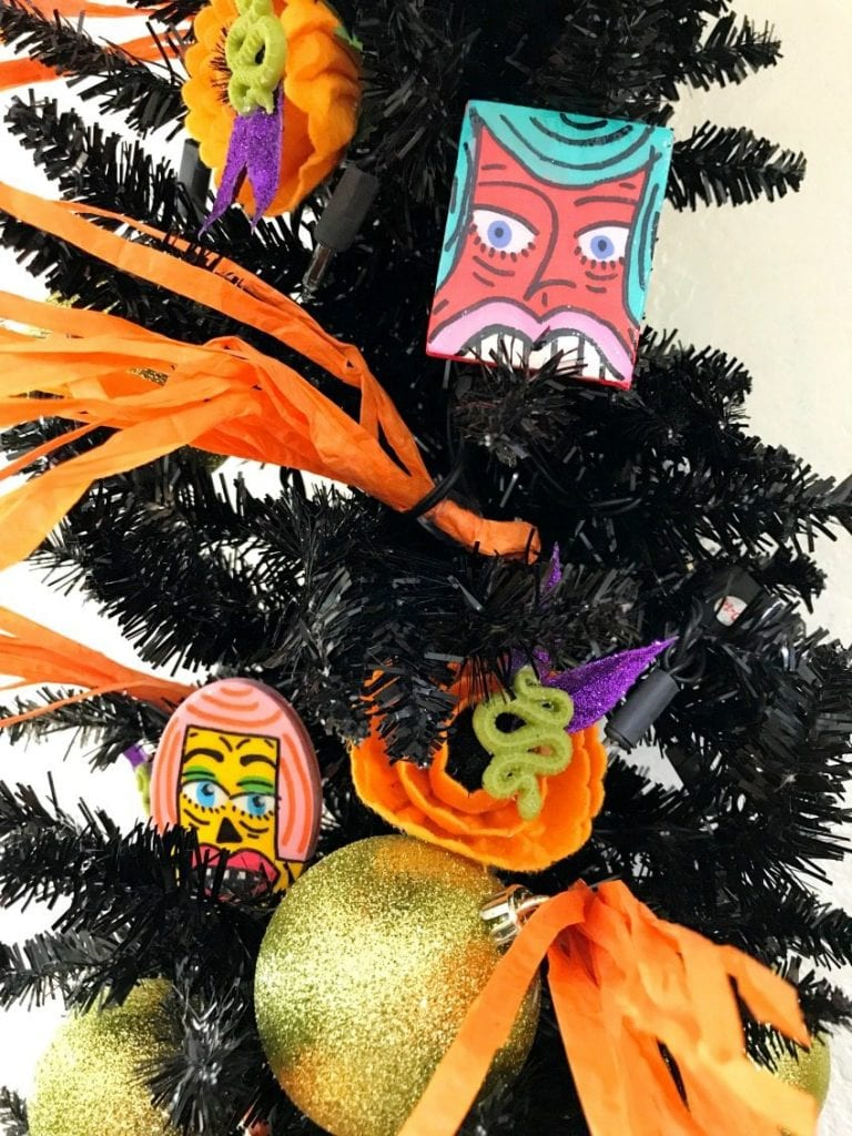 DIY Halloween tree ornaments by Jennifer Perkins