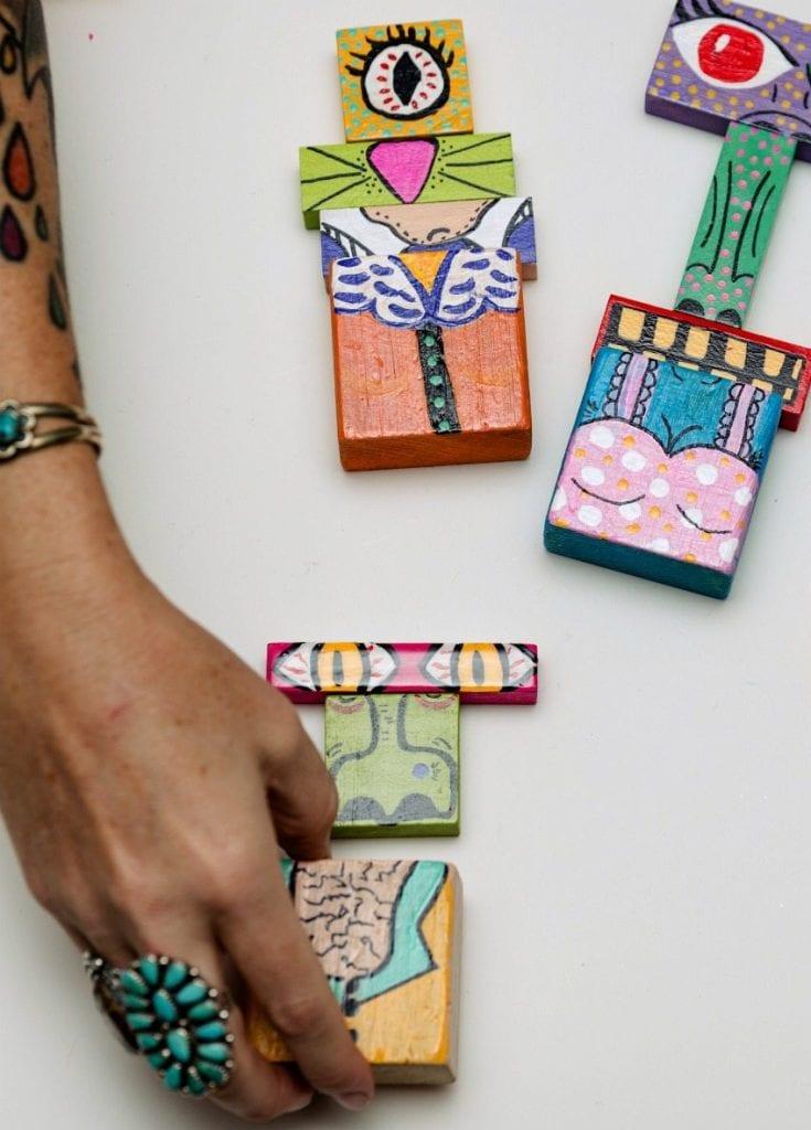 Cute DIY make a monster by blocks by Jennifer Perkins