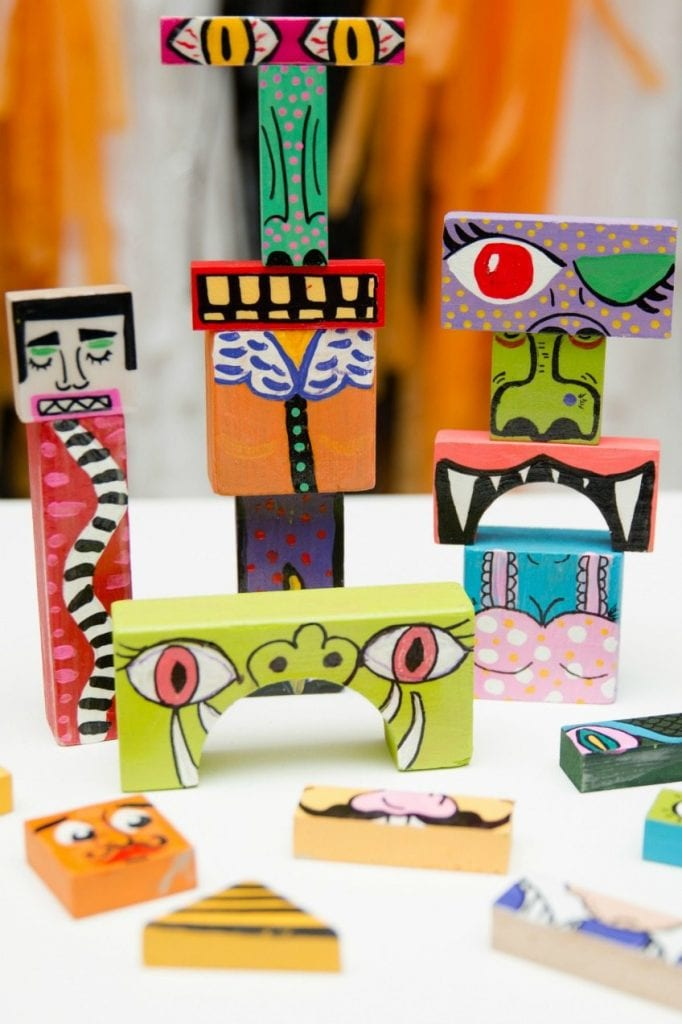 DIY Halloween make your own monster blocks by Jennifer Perkins
