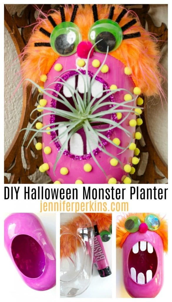 Make your own DIY Halloween monster for air plants with the kids by Jennifer Perkins