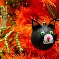 Black Cat Ornament DIY for a Halloween Tree by Jennifer Perkins