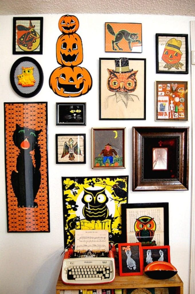 Gallery wall or Halloween art by Jennifer Perkins