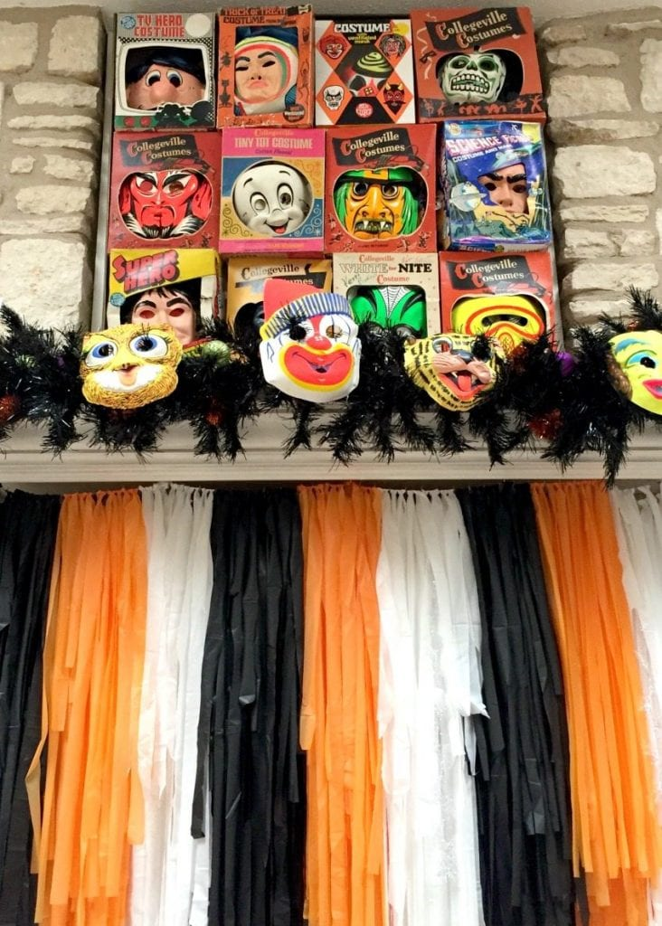 Halloween fireplace screen cover by Jennifer Perkins
