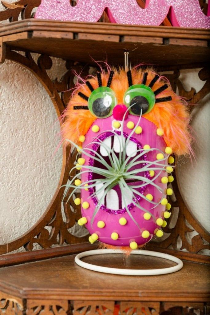 DIY Monster planter for Halloween
