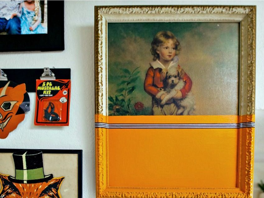 Thrift store art with a Halloween makeover by Jennifer Perkins