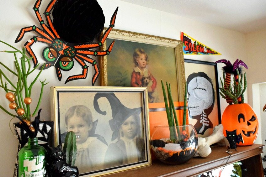 Collection of Halloween themed thrift store art by Jennifer Perkins