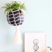 Hanging spider web pumpkin planter by Vickie Howell