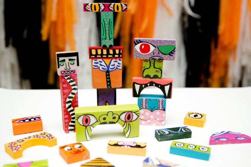 Craft a set of DIY Make Your Own Monster Blocks by Jennifer Perkins