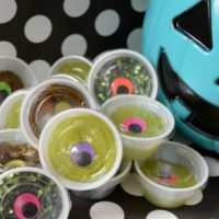 Candy free ideas for trick-or-treaters. DIY Halloween slime by Jennifer Perkins