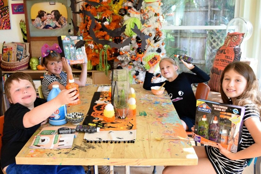 Halloween slime party with Elmer's glue by Jennifer Perkins