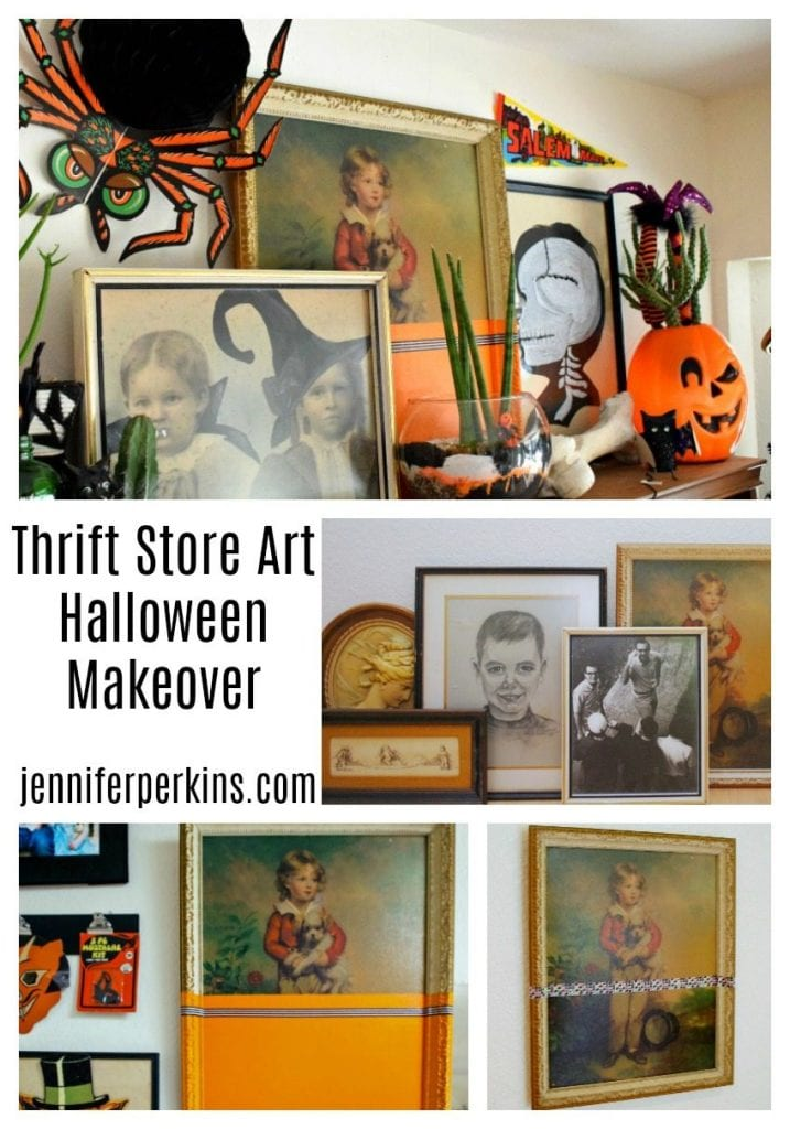 How to give thrift store art a Halloween makeover by Jennifer Perkins